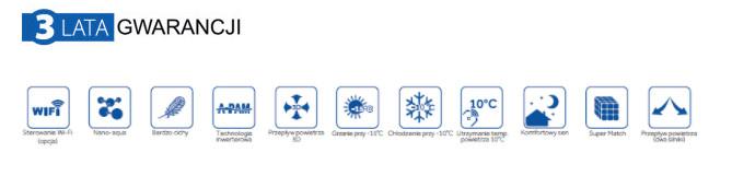 Klimatyzatory Haier Aqua Funkcje