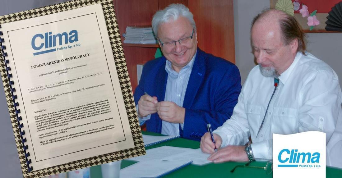Clima Polska współpraca ze szkołą technikum klimatyzacji