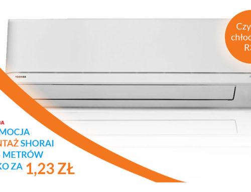 Profesjonalny montaż klimatyzacji Toshiba Shorai za 1,23 zł