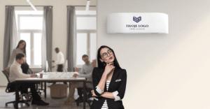 haori logo twojej firmy na klimatyzatorze